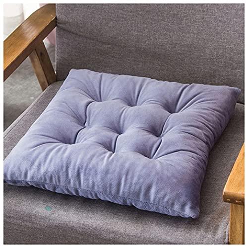 GYL-XF Confezione da 2 Cuscini per Sedie per Sedie da Pranzo,Cuscini di Seduta Quadrati Spessi Antiscivolo con Lacci, Cuscino Sedia Morbido E Confortevole per Sedie da Ufficio da Cucina