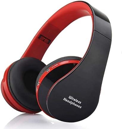 NITIUMI Bluetooth ヘッドホン ブルートゥース ヘッドホン ステレオワイヤレスヘッドホン 有線無線両用 高音質 密閉型 折り畳み式 軽量で携帯便利 PC Mac スマホなどに対応(黒赤色)