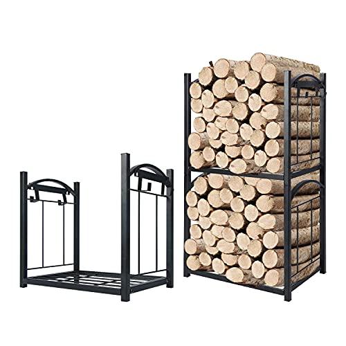 Scaffale per legna da caminetto, lungo supporto per legna da ardere