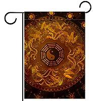 ウェルカムガーデンフラッグ(12x18in)両面垂直ヤード屋外装飾,印刷