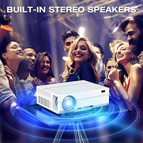 "TOPVISION Heimkino Beamer, 6500 Lumen Video Projektor with 80.000 Stunden Verlängert, Native 1080P LCD Beamer Full HD, 4K 300"" Heim/Berufsprojektor für Smartphone/PC/TV-Box/Laptop/PS4/PPT - 6"