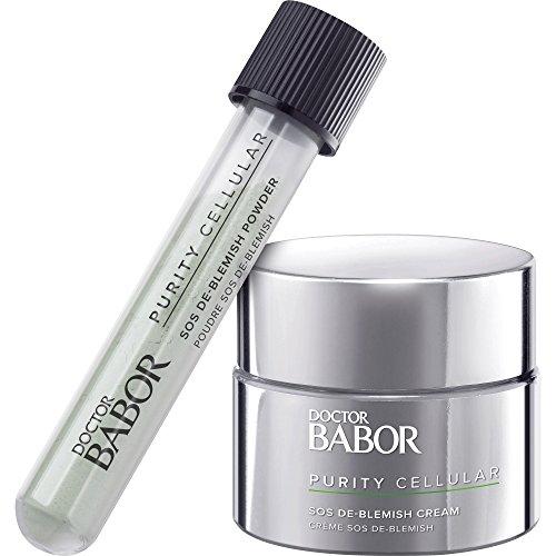 DOCTOR BABOR SOS De-Blemish Kit, Anti-Pickel Set mit De-Blemish Cream & De-Blemish Powder, gegen Hautunreinheiten & Irritationen, regenerierend, 59ml