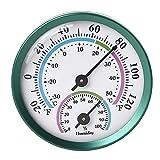 Termómetro higrómetro termómetro higrómetro interior exterior higrómetro 2 en 1 medidor de temperatura humedad higrómetro analógico para interior oficina hogar habitación