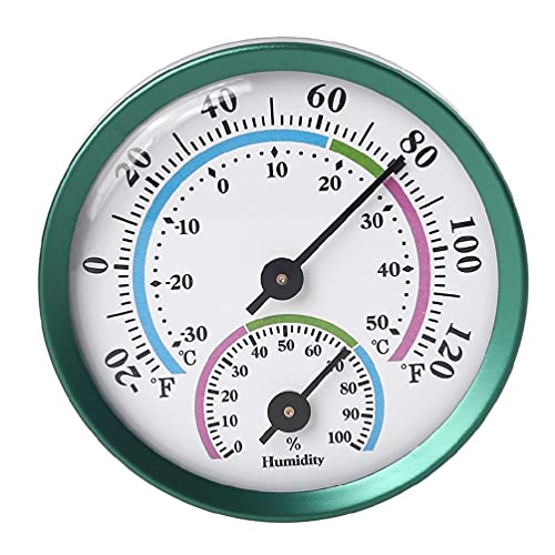 Thermometer Hygrometer Innen Außen Thermometer Hygrometer 2 in 1 Temperatur Luftfeuchtigkeit Gauge Analog Hygrometer für Innen Büro Zuhause Zimmer