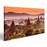 Bild Bilder auf Leinwand Bagan Myanmar Alte Tempel Wandbild