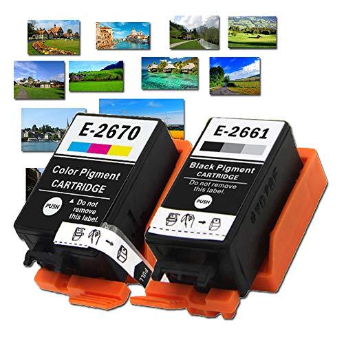 Karl Aiken 2661 T2661 T2670 - Cartucho de tinta para impresora Epson Workforce WF-100 W, 2 unidades