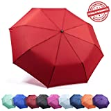 Frostfire Travel Umbrella Proven Unbreakable Windproof Tested 55MPH Sturdy, Durability Tested 5000 Times - Compact, UltraSlim Windmaster Umbrella, Auto Open/Close