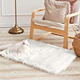 Ophanie Ultra-Luxurious Fluffy Rectangle Area Rug,Soft and Thick Faux Fur Rug,White Rug Non-Slip,Small Rug for Bedroom Bedside Living Room,Fuzzy Rug,Shag Rug,2x3 Feet, White