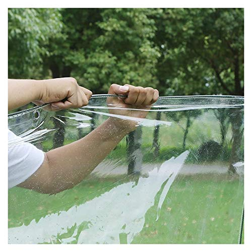 ALGFree Claro Impermeable Lona Transparente Impermeable Exterior Tarea Pesada a Prueba de Polvo Impermeable Lona Cubrir con Ojales Marquesinas Lonas Tarea Pesada a Prueba de La Intemperie Lona