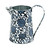 WHHOME Shabby Chic Watering Can Galvanized Finish Metal Vase Country Rustic Pitcher Primitive Jug Decorative Flower Holder, 7.1' H
