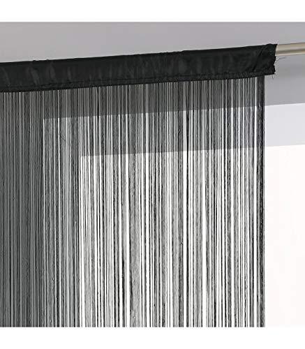 Rideau fil (largeur 120 cm) Noir