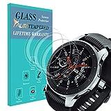 TAURI Pellicola Protettiva per Samsung Galaxy Watch 46mm 3 Pezzi 2.5D 9H Durezza Senza Bolle Protezione Schermo Vetro Temperat