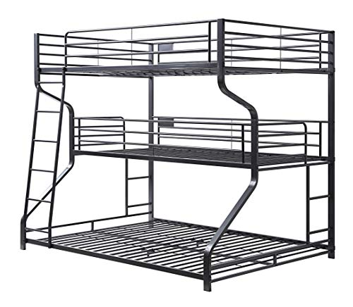 ACME Caius II Bunk Bed - Triple Twin/Full/Queen - - Gunmetal