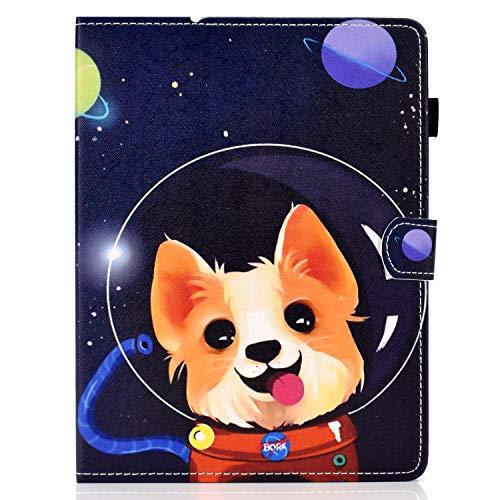 """Universal 10.1"""" Tablet Case,Funda de Piel Cubierta con Soporte para Tarjeta para Android Windows Tablet ASUS, Acer,RCA,DELL, HP, 10.1 Inch (Space Dog)"""