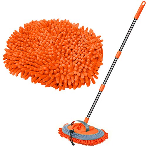 "WillingHeart 47.5"" Car Wash Brush Mop Cleaning Tool with Long"