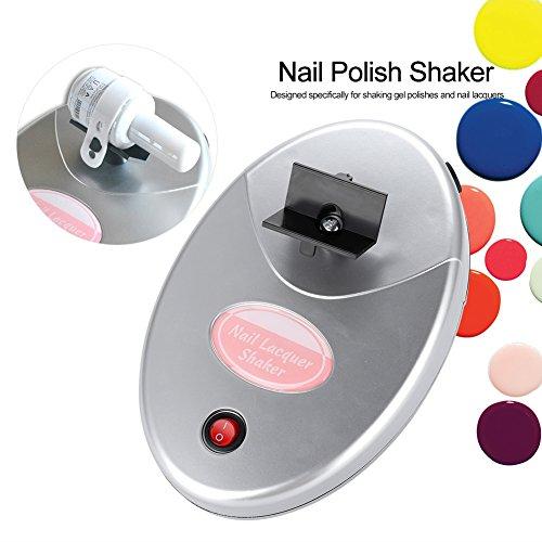 Cocoarm Nagellak shaker Schüttler Nagellak Flessen Shaker Verstelbare nagelgel oscillator schudden gelijkmatig gereedschap Geen luchtbellen 110-240V (zilver)