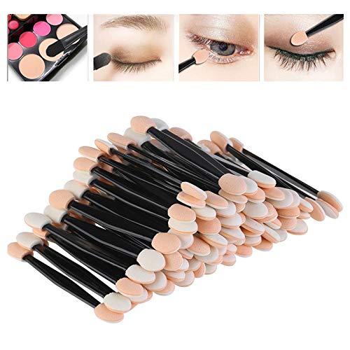 DAHU Stick Pro éponge 50pcs Ombre à paupières Applicateur Outils de Maquillage cosmétiques Double-tête Pinceau Fard à paupières pour Les Femmes Maquillage trop