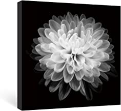 SUMGAR Black and White Wall Art Bedroom Flower Canvas Paintings Floral Pictures Artwork,12x12 in