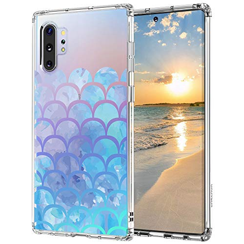 MOSNOVO Galaxy Note 10 Plus Case,Galaxy Note 10 Plus 5G Case, Mermaid Tail Slim Clear Case with Design Shockproof TPU Bumper Protective Cover Case for Samsung Galaxy Note 10 Plus