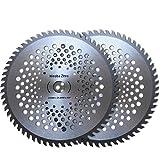 Hiroba Zero(ヒロバ・ゼロ) 草刈機/刈払機 山林用 替え刃 チップソー 2枚セット 外径255mm 刃数60P JIS規格相当 GZTL50