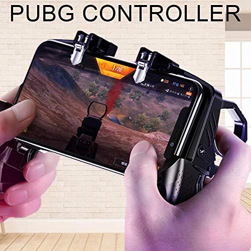 Ritapreaty Gamepad, K21 Cuatro - Juego de Enlace con los Dedos Manija Peace Elite Button Controller para PUBG Reglas de Supervivencia Juego Trigger Joystick Gamepad para 4-6.5