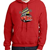 Surf Microbus Hoodie Surfboards Surfing Time Hooded Pullover - 1975C