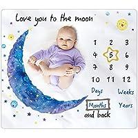 Bamomby Baby Monthly Milestone Blanket