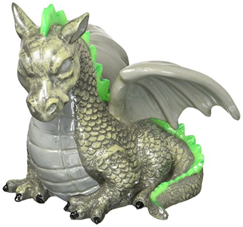 GloFish Dragon Cycle Light Ornament, Detailed aquarium Décor, Changes Color Under Blue And Black LEDs, 19278, Medium