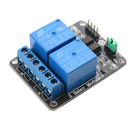 SunFounder 2 Channel DC 5V Relay Module with Optocoupler Low Level Trigger Expansion Board for Arduino R3 MEGA 2560 1280 DSP ARM PIC AVR STM32 Raspberry Pi