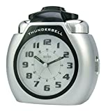 "Acctim""Thunderbell"" Alarm Clock, Silver"