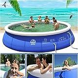 Piscina hinchable para piscina de verano para adultos y niños, de PVC, portátil, juguete para el suelo, piscina hinchable (180 x 73 cm)