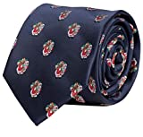 Fabio Farini Krawatte mit weihnachtlichem Muster, perfekt als Weihnachtsgeschenk für Männer, Blau mit Weihnachtsmann