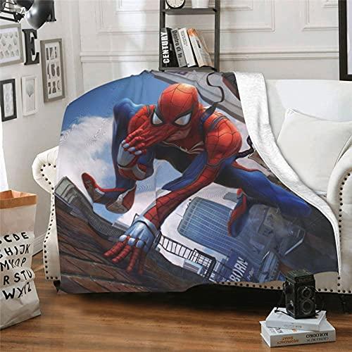 Superhero American Comics Avengers 2 Age of Ultron The Amazing Spider-Man Spider-Verse - Manta de aire acondicionado para sillones y sillones (152 x 127 cm)