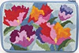Cosmetic Purse - Watercolor Poppy - Needlepoint Kit