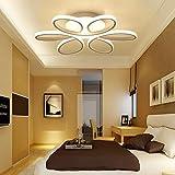 loonju Lámpara de techo LED envolvente para dormitorio, salón o hogar, brillo regulable, 74 cm