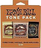 Ernie Ball 3313 Medium-Light Acoustic Guitar String Tone Pack Medium Light