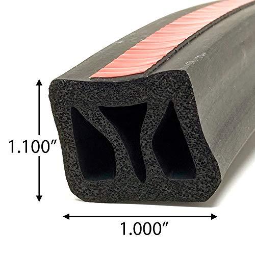 ESI Front Rail Seal XL 5 1/2' EPDM Rubber