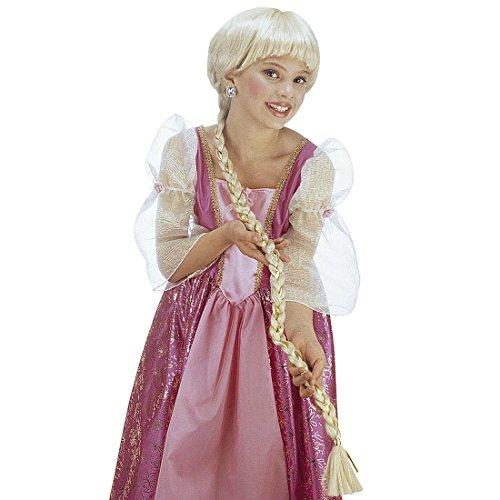 Perruque Raiponce longs cheveux tressés pour enfant blond Postiche cheveux longs de princesse postiche pour enfant Disney conte de fée petite fille tresses moumoute de carnaval costume accessoire