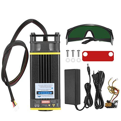 Kit de módulo l-áser de 30 W, l-áser azul de 450 nm, longitud focal fija, módulo de corte de cabezal l-áser para l-áser Engaver, fresadora CNC, enrutador de madera, impresora 3D