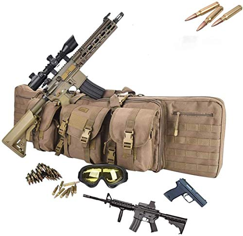 LXNQG Funda de Rifle de Caza, Juego de la Guerra Militar Bolsa de Pistola táctica Duradera, Bolsa de Nylon Acolchada, for Rifle táctico y Pistola, 36 Pulgadas