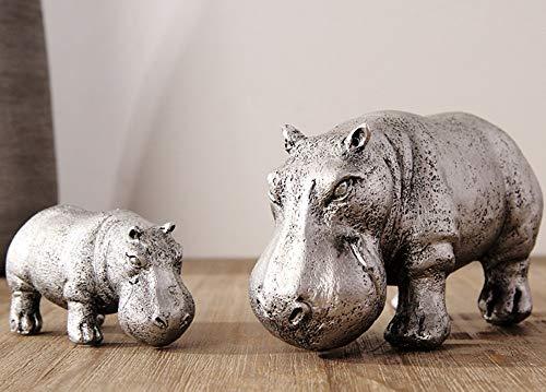 BXU-BG Moderna Minimalista de Plata Hippo Modelo Mobiliario de habitación Suave Crafts ⭐