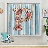 Cortinas opacas para dormitorio de 63 pulgadas de largo cortina de oscurecimiento para sala de estar abstracto beige floral fondo sin costuras