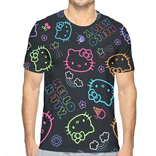 Negro Hello Kitty Unisex Pullover Pareja Camiseta Sudadera con Capucha Colorido XL