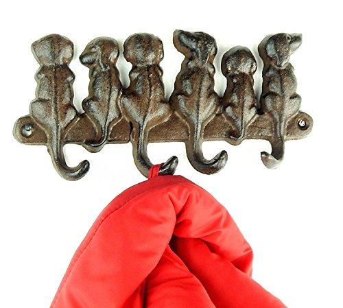 Tinas Collection Garderobe Hund Kleiderhakenleiste mit Hundemotiv Kleiderhaken Wandhaken Hund Design
