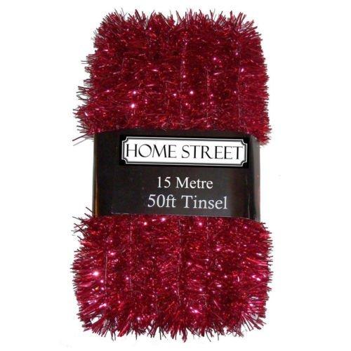 Homestreet - Espumillón extra largo de 15 metros, espumillón de navidad muy largo en una elección de decoración...