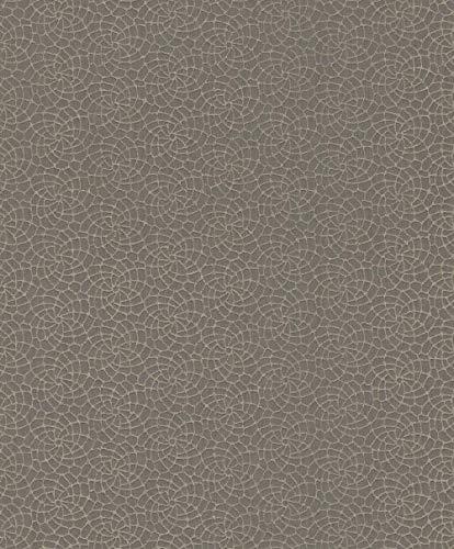 Textiltapete Rasch Textil Mirage Grafik taupe beigegrau 078991