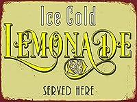 アイスコールドレモネード、ブリキサインヴィンテージ面白い生き物鉄の絵画金属板ノベルティ