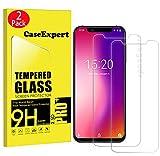 CaseExpert 2 Pack - UMIDIGI One/One Pro Protector de Pantalla, Ultra Tanque Transparente Cristal 9H Cristal Templado Glass Protector de Pantalla para UMIDIGI One/One Pro
