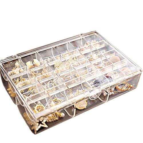 Cajas de joyería con tapa transparente PS caja de joyería para niñas y mujeres Organizador de joyas para anillos, pendientes, collares y pulseras