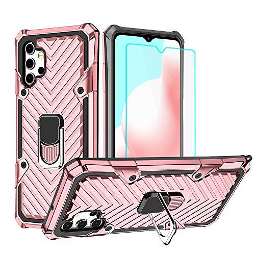 Cuoqing Funda Samsung Galaxy A32, Carcasa Samsung Galaxy A32,Prueba de Golpes con Forro de Cubierta para Samsung Galaxy A32